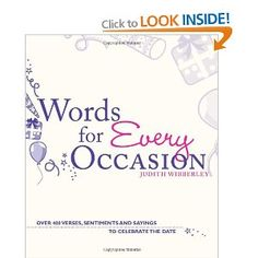 Words For Every Occasion: Over 400 Verses, Sentiments and Sayings to Celebrate the Date: Amazon.co.uk: Judith Wibberley: Books
