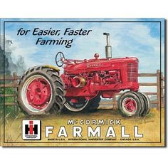 $8.99 Farmall Model M Tractor Retro Vintage Tin Sign  From Poster Revolution   Get it here: http://astore.amazon.com/ffiilliipp-20/detail/B001330TL8/184-8457688-4671330