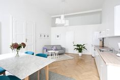 Wohnung in Wien, Österreich. This is a beautifully refurbished 120 m2 apartment…