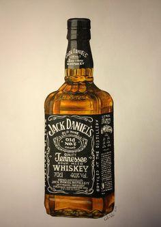 Jack Daniels by *CarolineSalinas Traditional Art / Drawings / Still Life ©2013 *CarolineSalinas