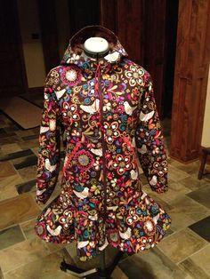 Rainpuk, kuspuk raincoat for women and girls Http://www.etsy.com/shop/rainpuk