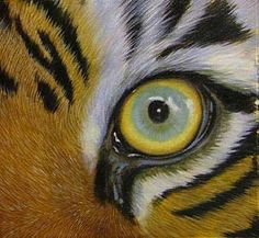 realistic fur - this happens to be oil BUT the process would be the same for acrylics