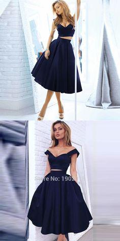 two piece homecoming dress 2016, black homecoming dress, party dress, evening dress, formal dress #fashion #black #homecoming