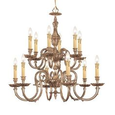 Pin It! :) Click Image Twice For More Info and Pricing :)  #home #ceiling #homeimprovement #homedecor #lighting  #lights #lightandfixture #chandeliers see more chandeliers at http://www.zbrands.com/Chandeliers-C35.aspx - Crystorama Chandeliers - Olde World 12 Light Candle Chandelier