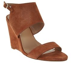 7251f6062e4d1a H by Halston High Wedge Suede Sandals - McKenzie - A276498