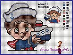 Viviane Pontos e Art's: Gráfico Menino Marinheiro Cross Stitching, Cross Stitch Embroidery, Embroidery Patterns, Cross Stitch Patterns, Baby F, Nautical Pattern, Baby Towel, Cross Stitch Baby, Crochet Diagram