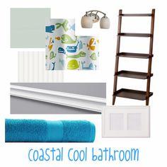 Coastal kids bathroom
