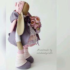 Купить Лавандовая Эльза - тильда, заяц тильда, игрушка тильда, интерьерная кукла, интерьерная игрушка