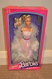 1980s barbie dolls - Crystal Barbie! Loved her dress!