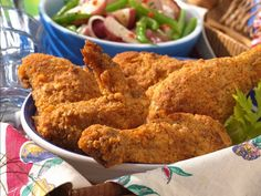 Ranch Oven Fried Chicken. I made this tonight but used plain greek yogurt in place of the buttermilk.  It was very tasty and is Hubby approved.