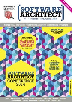 """The brochure from the """"Software Architect 2014"""" conference taking place in London, England during October 2014."""