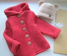Diy Crafts - Baby,Cardigan-VK is the largest European social network with more than 100 million active users. Our goal is to keep old friends, ex-clas Baby Girl Sweaters, Knitted Baby Clothes, Crochet Clothes, Crochet Baby Poncho, Baby Coat, Kids Coats, Baby Cardigan, Crochet For Kids, Baby Knitting Patterns