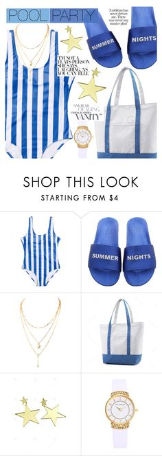 """Pool Party"" by tasnime-ben ❤ liked on Polyvore"
