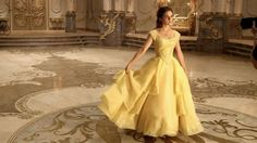"""Beauty & the Beast Movie News on Instagram: """"""""The gold of the dress is De Garderobe's gift to Belle. The gold flies down from the rococo ceiling as if by magic, to be the final layer.""""…"""""""