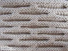Honeycomb stitch      knittingstitchpatterns.com