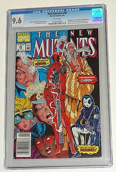 NEW MUTANTS 98 CGC 9.6 White pgs 1st DEADPOOL Domino Liefeld Movie not PGX !!
