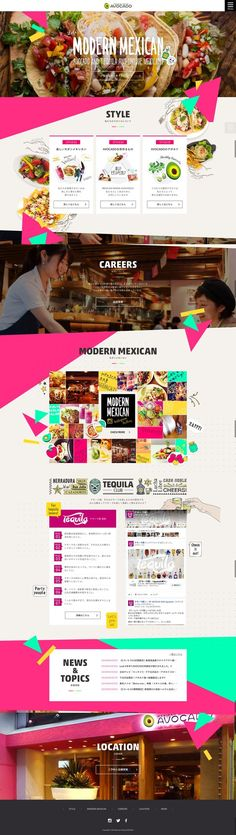 #webdesign #inspiration #web #design #colourful #colorful #food #restaurant