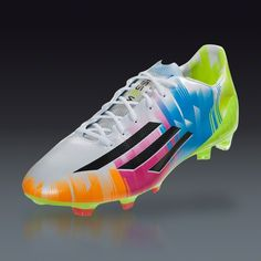 adidas F50 adiZero TRX FG Messi - Running White/Black/Solar Slime Firm Ground Soccer Shoes