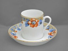 Tuscan SET of 3 vintage china coffee can cup & saucer duos c1920-30 FREE post UK/OVERSEAS postage reduced