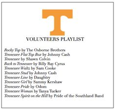 Tennessee Vols Playlist - i could add a couple more to this list!