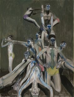 Alexander Tinei - Kundalini Pyramid, 2010 - 200 x 150 cm - Oil on Canvas Madding Crowd, Blue Tattoo, Artist Painting, Contemporary Artists, All Art, Art Images, Oil On Canvas, Statue, Fine Art