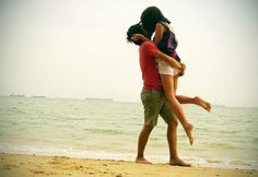 My bf and me on beach