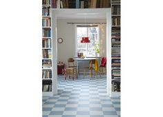 Forbo Novilon floor. Thought about this or the kids' room in the countryside for quite some time already...