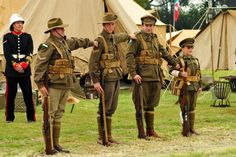Members of Battlefront Australis and Cobbers in Khaki and Green doing their drills at the 2011 History Alive: A Journey Through Time. Photo by Alex Hinsch.