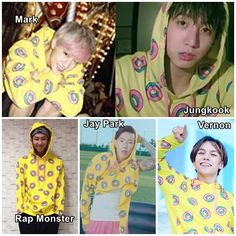 Get your very own Donut Sweater worn by Exo's Lay, Mark, AOMG's Jay Park, SEVENTEEN's Vernon, BTS's Jungkook & Rap Monster and many others . Note that it's fan made (not the Odd Future one). - Online Store Powered by Storenvy Got7 Funny, Funny Kpop Memes, Bts Memes, Jay Park, K Pop, Seventeen Memes, Haha, Mark Tuan, Got7 Mark