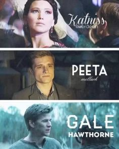 Katniss, peeta and gale by ✘ⓒⓔⓒⓘ✘ | We Heart It