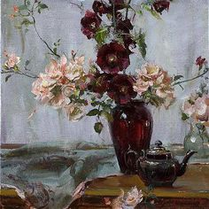❀ Blooming Brushwork ❀ - garden and still life flower paintings - Daniel Gerhartz