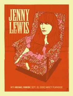 Jenny Lewis- Variety Playhouse Chair Gig Poster – Indie Vinyl Den