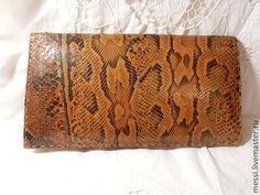 Винтажная сумочка клач змеиная кожа, питон