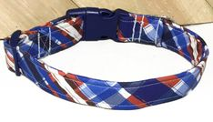 Blue And Rustic Red Bias Plaid Collar for Dogs or Cats/ Leash Upgrade/ Buckled or Martingale/ XXS-XXL by KVSPetAccessories on Etsy Cat Leash, Metal Engraving, Cat Accessories, Cat Collars, Metal Buckles, All Dogs, Your Pet, Dog Cat, Plaid