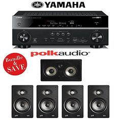 Introducing Yamaha RXV781BL 72Channel 4K AV Receiver  Polk Audio V65 50 InWall Home Theater Speaker System. Great product and follow us for more updates!