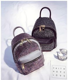 77c59c01c2a Newest Backpacks Female Sequins Shoulder Bag PU Leather Travel Backpack  Women Fashion Shoulder Messenger Bags Cute Small Bag Back Pack Dakine  Backpacks Back ...
