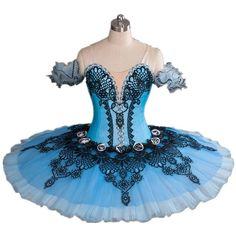 Deep Blue V-neck Professional Ballet Tutu Model Dbl-1180 Suitable for... (1.255 BRL) ❤ liked on Polyvore featuring dresses, ballet, dance and tutu