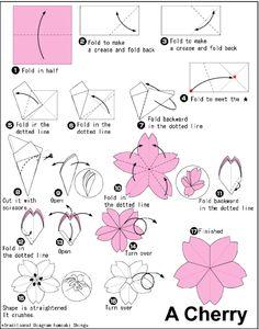 via My Darling Rainbow http://mydarlingrainbow.tumblr.com chickenshit:  a cherry blossom origami