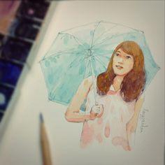 ;) #watercolor #painting #lingjaidee