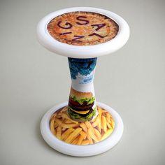 SH2 Fastfood | Sporthocker | SALZIG #salzig #sporthocker #cool #stool #fastfood #design #sport