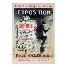 Vintage Jules Chéret Belle Epoque French Louis XIV & XV fine arts exhibition advertising poster