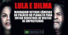 Os ex-presidentes Lula e Dilma Rousseff não souberam explicar o motivo pelo qual foram retiradas as câmeras de segurança no anos de 20...