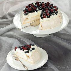 beza Pavlova Meringue Pavlova, Fries, Sweet Tooth, Cheesecake, Recipes, Sweets, Mudpie, Goodies, Cheese Pies