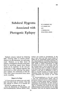 JAMA Network | JAMA Neurology | Subdural Hygroma Associated with Photogenic Epilepsy