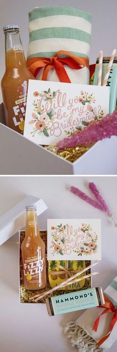 """Unique bridesmaid gifts. How about making your very own """"Will You Be My Bridesmaid"""" boxes?"""