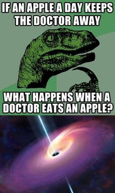 What happens when a doctor eats an apple?
