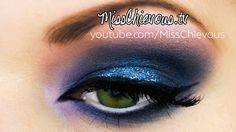 BLUE SMOKEY EYES | Tutorial on my website: www.MissChievous.tv