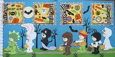 2-premade-Halloween-scrapbook-pages-12-x-12-layout-paper-piecing-for-albums
