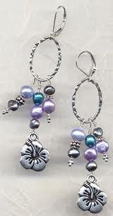 Charm earrings.