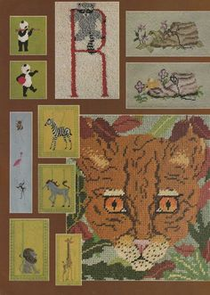 Charted Creatures- Animal Themed Mini Cross Stitch Patterns also Charted for Crochet, Needlepoint, Latch Hook and Knitting Free Cross Stitch Charts, Mini Cross Stitch, Cross Stitch Kits, Cross Stitch Patterns, Kinds Of Fabric, Chart Design, Needlepoint, Sewing Patterns, Creatures